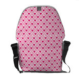 Pink and Red Valentine's Day Hearts Pattern Courier Bags