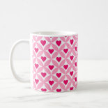 Pink and Red Valentine's Day Hearts Pattern Mug