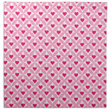 Pink and Red Valentine's Day Hearts Pattern Printed Napkins