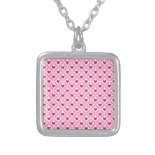 Pink and Red Valentine's Day Hearts Pattern Pendant