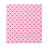 Pink and Red Valentine's Day Hearts Pattern Memo Note Pads