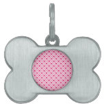 Pink and Red Valentine's Day Hearts Pattern Pet ID Tag