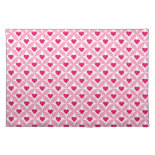 Pink and Red Valentine's Day Hearts Pattern Placemat