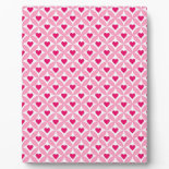 Pink and Red Valentine's Day Hearts Pattern Display Plaque