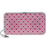 Pink and Red Valentine's Day Hearts Pattern Portable Speaker