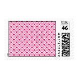 Pink and Red Valentine's Day Hearts Pattern Stamps