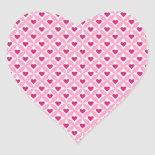 Pink and Red Valentine's Day Hearts Pattern Heart Stickers