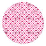 Pink and Red Valentine's Day Hearts Pattern Round Sticker