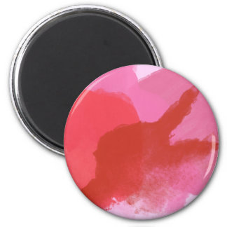 Pink and Red Watercolour Magnet