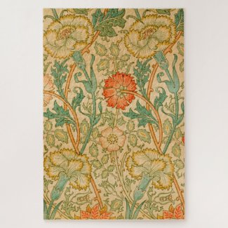Pink and Rose by William Morris Jigsaw Puzzle