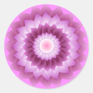 Pink and Rose Flower Art Sticker
