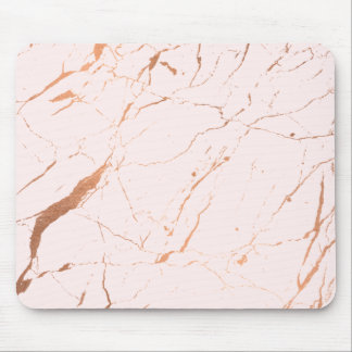 Pink and Rose Gold Marble Designer Mouse Pad