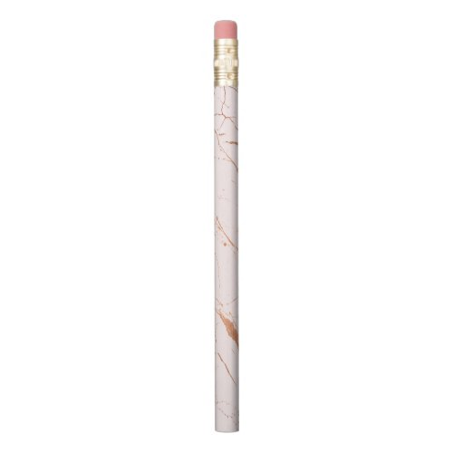 Pink and Rose Gold Marble Designer Pencil