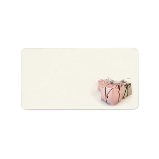 Pink and Silver Christmas Gifts Address Label