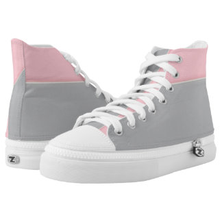 Pink and Silver Cuff Two-Tone Hi-Top
