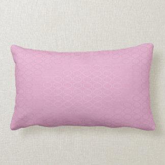 Pink and Silver Lumbar Pillow