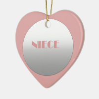 Pink And Silver Niece Ceramic Ornament