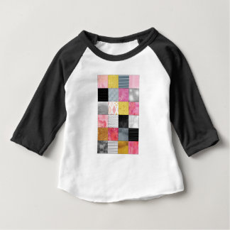 Pink and Silver Quilt Baby T-Shirt
