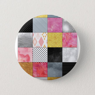 Pink and Silver Quilt Button