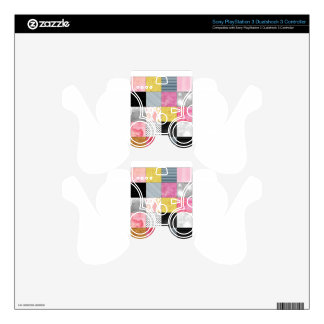 Pink and Silver Quilt PS3 Controller Decal