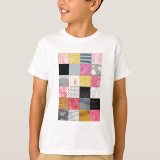Pink and Silver Quilt T-Shirt