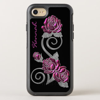 Pink and Silver Roses Otterbox iPhone 6S OtterBox Symmetry iPhone 7 Case