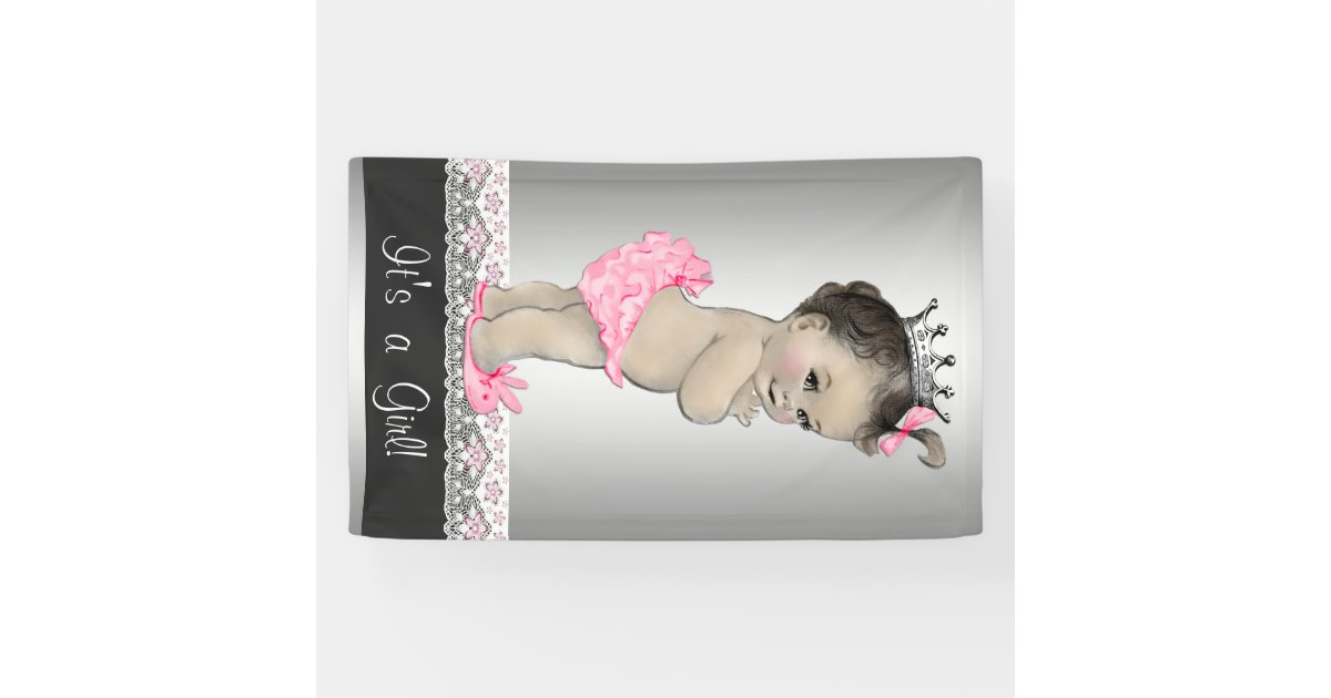 pink and silver vintage baby shower banner zazzle