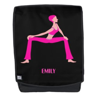 Pink And Skin Yoga Pose
