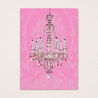 Pink and Sparkling Chandelier Business Card