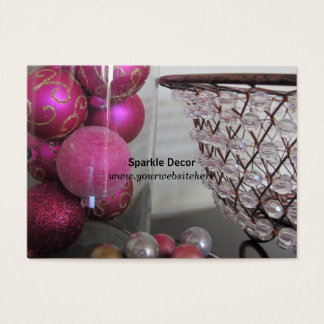 Pink and Sparkly Decor Business Card