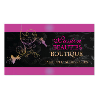 Pink and Swirl Business Card