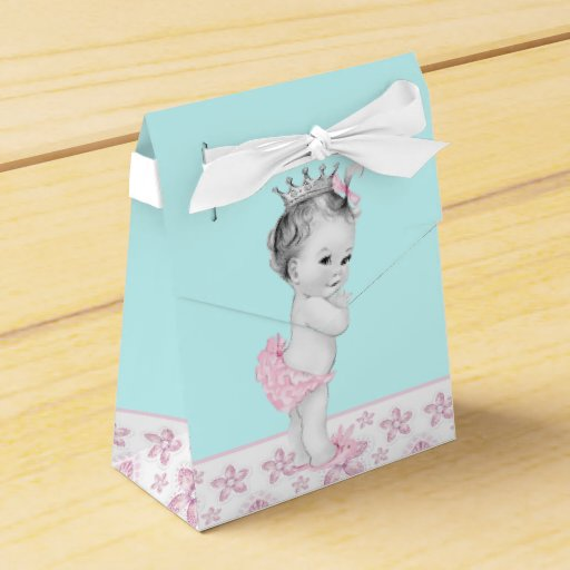 Blue Baby Shower Favor Boxes : Pink and teal blue baby shower favor boxes zazzle