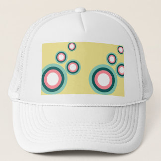Pink and Teal Bubbles Trucker Hat