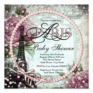 123 paris theme baby shower invitations paris theme baby shower