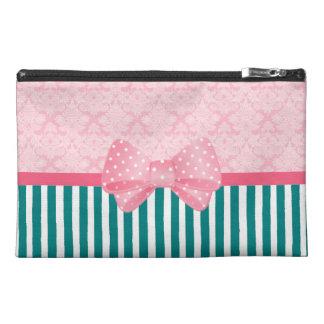 Pink and Teal Damask Stripe Bag