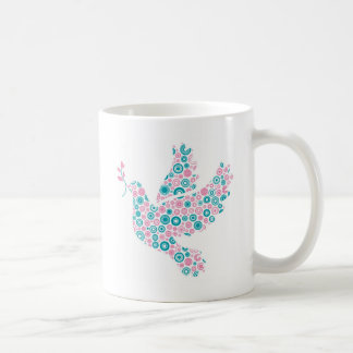 Pink and Teal DOVE Coffee Mug