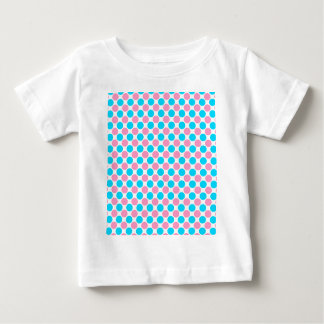 Pink and Teal on White Polka Dots Baby T-Shirt