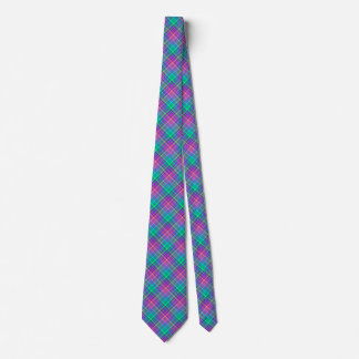 Pink and Teal Plaid, Tie