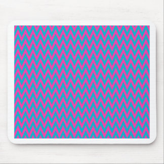 Pink and Teal Zigzags Mouse Pad
