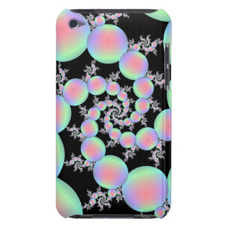Pink and Turquoise Balloon Spiral iPod Touch Case