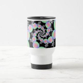 Pink and Turquoise Balloon Spiral Travel Mug