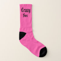 Pink and Turquoise Crazy Sox Socks