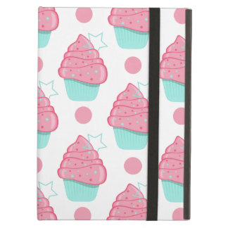 Pink and Turquoise Cupcakes, Cupcake Pattern iPad Air Cases