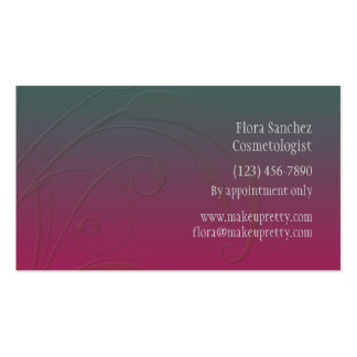 Pink and Turquoise Floral Leaf Template Business Card Templates