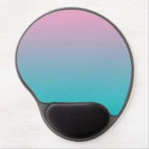 """Pink And Turquoise Ombre"" Gel Mouse Pad"
