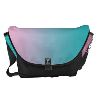 Pink And Turquoise Ombre Large Messenger Bag