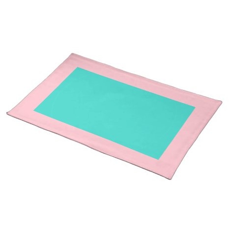 Pink and Turquoise Placemat