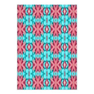 Pink and Turquoise Starfish Pattern Personalized Invites