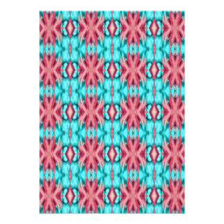 Pink and Turquoise Starfish Pattern Invitations