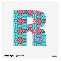 Pink and Turquoise Starfish Pattern Wall Decal